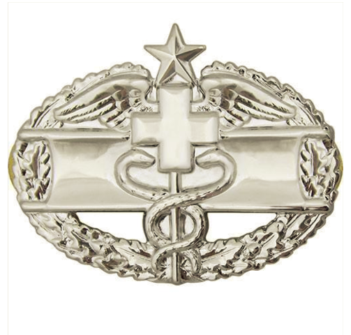 Vanguard ARMY BADGE: COMBAT MEDICAL SECOND AWARD - MIRROR FINISH