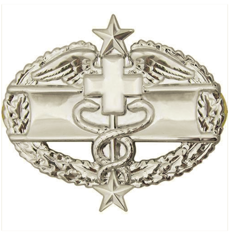 Vanguard ARMY BADGE: COMBAT MEDICAL THIRD AWARD - MIRROR FINISH