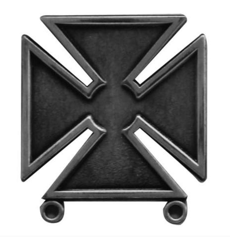 Vanguard US Army Marksman Badge Regulation Size Silver Oxidized Finish