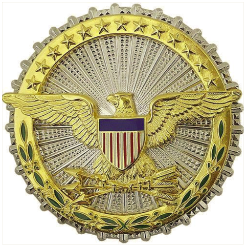 Vanguard ARMY IDENTIFICATION DRESS BADGE: SECRETARY OF DEFENSE - MIRROR FINISH