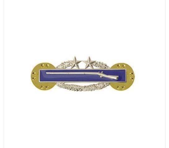 Vanguard ARMY DRESS BADGE: COMBAT INFANTRY THIRD AWARD - MINIATURE MIRROR FINISH