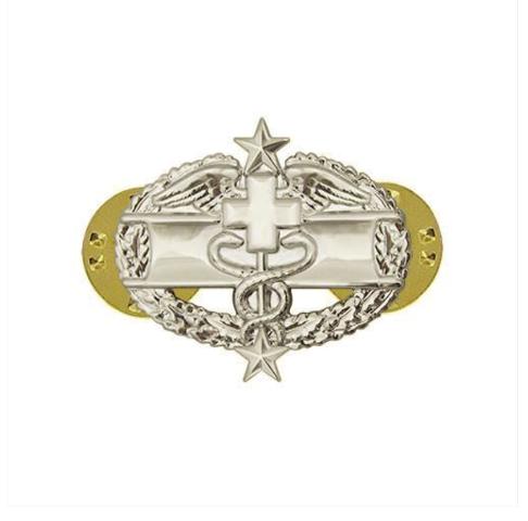 Vanguard ARMY DRESS BADGE: COMBAT MEDICAL THIRD AWARD - MINIATURE, MIRROR FINISH
