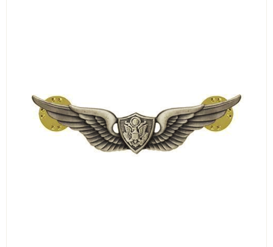 Vanguard ARMY DRESS BADGE: AIRCRAFT CREWMAN: AIRCREW MINIATURE, SILVER OXIDIZED