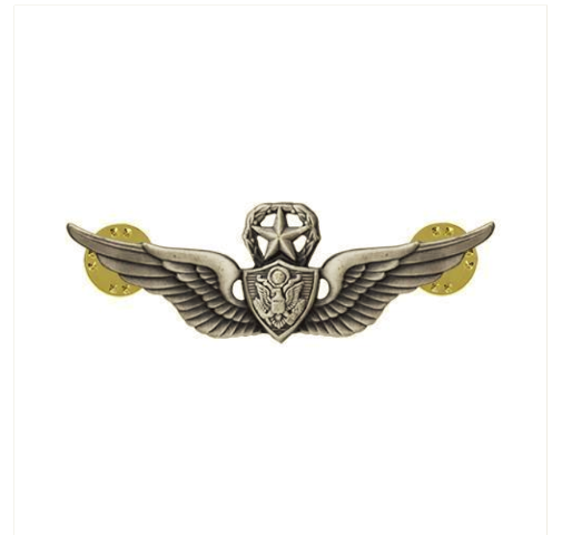 Vanguard ARMY BADGE: MASTER AIRCRAFT CREWMAN: AIRCREW MINIATURE, SILVER OXIDIZED