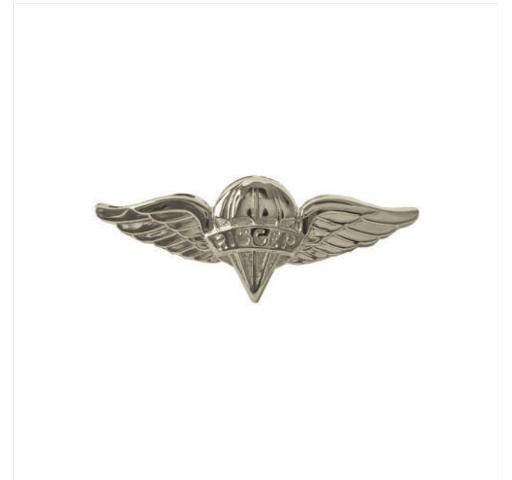 Vanguard ARMY DRESS BADGE: PARACHUTE RIGGER - MINIATURE, MIRROR FINISH