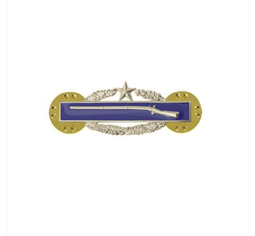 Vanguard ARMY BADGE: COMBAT INFANTRY SECOND AWARD - MINIATURE