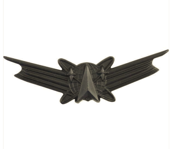 Vanguard ARMY BADGE: SPACE COMMAND - REGULATION SIZE, BLACK METAL