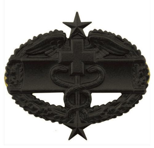 Vanguard ARMY BADGE: COMBAT MEDICAL THIRD AWARD - BLACK METAL