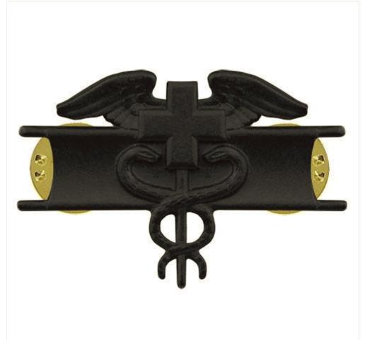 Vanguard ARMY BADGE: EXPERT FIELD MEDICAL - BLACK METAL