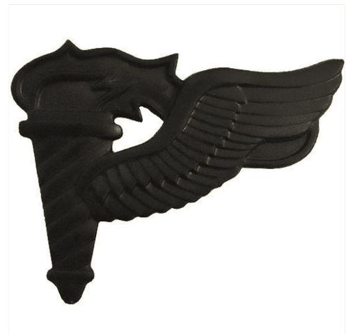 Vanguard ARMY BADGE: PATHFINDER - BLACK METAL