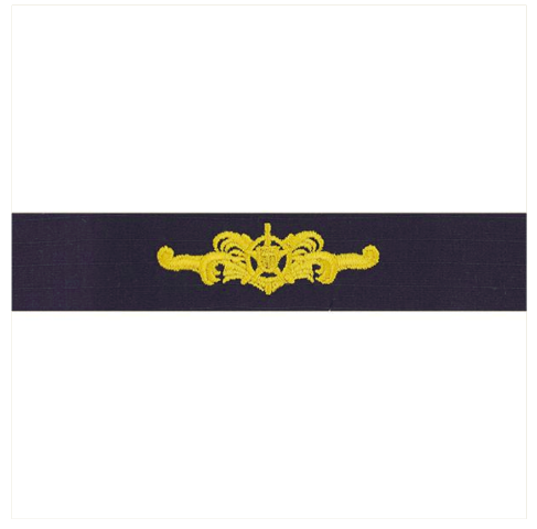 Vanguard COAST GUARD EMBROIDERED BADGE: CUTTERMAN OFFICER - RIPSTOP FABRIC