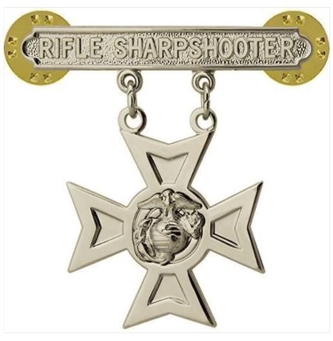 Vanguard MARINE CORPS QUALIFICATION BADGE: RIFLE SHARPSHOOTER