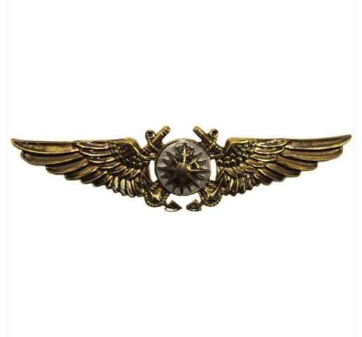 Vanguard MARINE CORPS BADGE: AERIAL NAVIGATOR - ANTIQUE GOLD