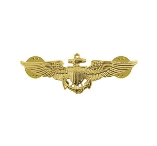 Vanguard NAVY BADGE: AVIATOR - MINIATURE, MIRROR FINISH