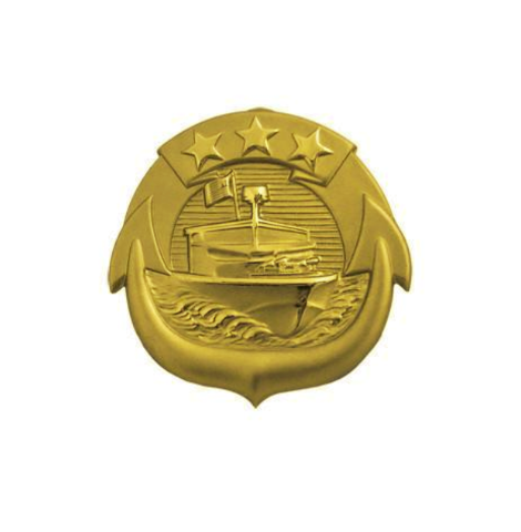 Vanguard NAVY BADGE: SMALL CRAFT OFFICER - MINIATURE, MIRROR FINISH
