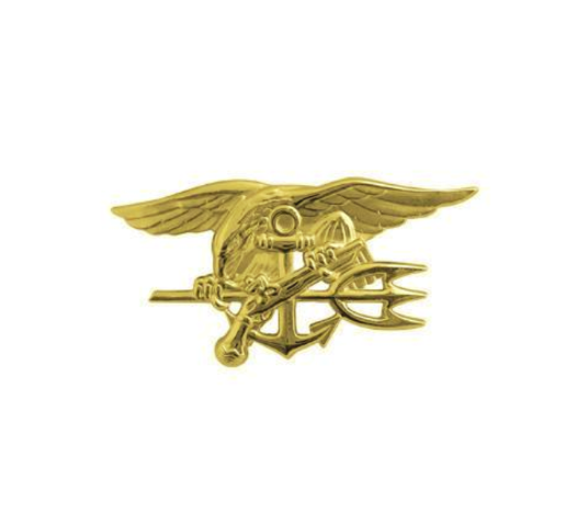 Vanguard NAVY BADGE: SPECIAL WARFARE - MINIATURE, GOLD MATTE FINISH