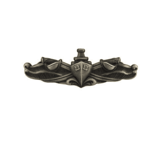 Vanguard NAVY BADGE: SURFACE WARFARE ENLISTED - MINIATURE, OXIDIZED