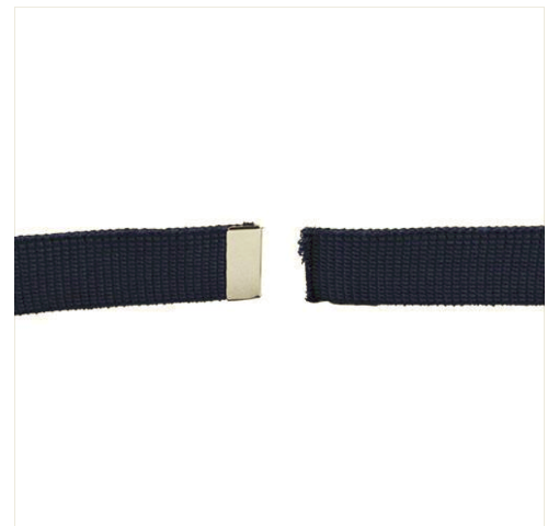Vanguard AIR FORCE BELT: BLUE COTTON WEB WITH MIRROR FINISH TIP