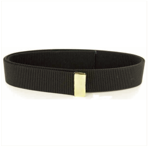 Vanguard BELT: BLACK NYLON WITH 24K GOLD TIP - MALE