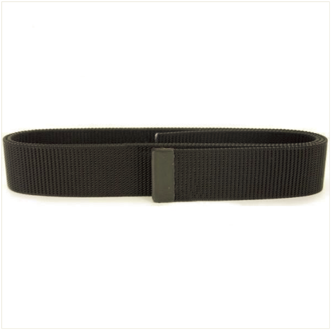 Vanguard NAVY BELT: BLACK NYLON WITH SEABEE BLACK TIP - MALE