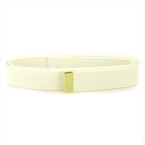 Vanguard NAVY BELT: WHITE CNT WITH 24K GOLD TIP - FEMALE