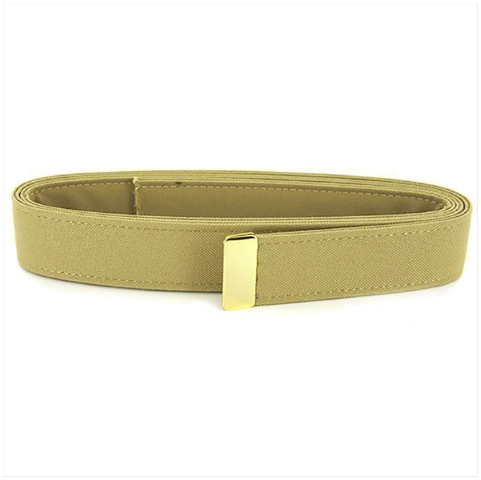 Vanguard NAVY BELT: KHAKI CNT WITH 24K GOLD TIP - MALE XL