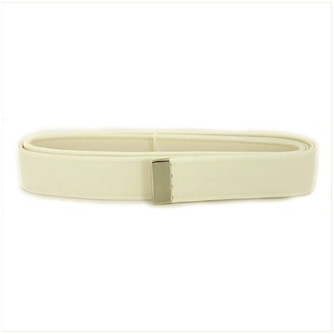 Vanguard NAVY BELT: WHITE CNT WITH SILVER MIRROR TIP - MALE