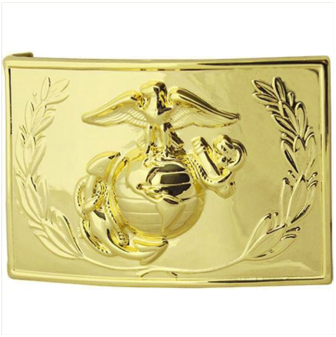 Vanguard MARINE CORPS DRESS BUCKLE - 24K GOLD PLATED WITH EMBLEM AND WREATH