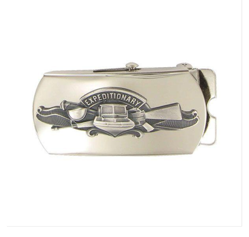 Vanguard NAVY BELT BUCKLE: EXPEDITIONARY WARFARE SPECIALIST - MIRROR FINISH