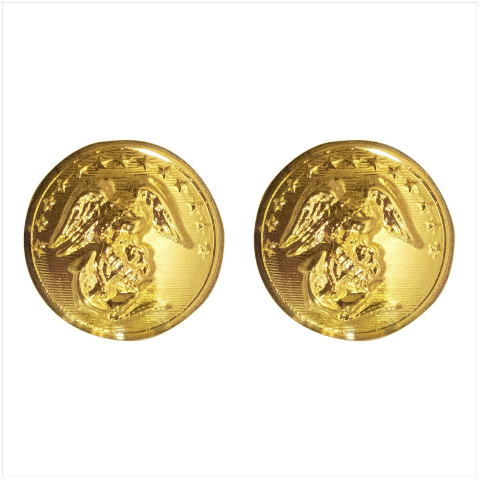 Vanguard MARINE CORPS BUTTON: 27 LIGNE - 24K GOLD PLATED