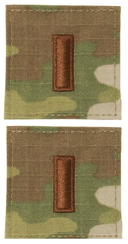 Desert Tan Cloth Embroidered Rank Insignia 2nd Lieutenant New Pair