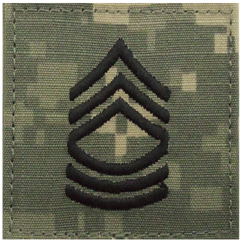 Vanguard ARMY EMBROIDERED ACU RANK INSIGNIA: MASTER SERGEANT