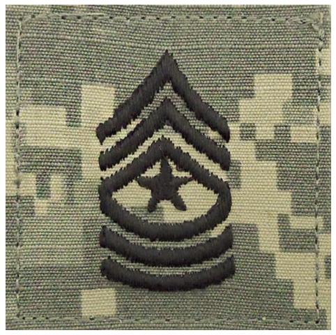 Vanguard ARMY EMBROIDERED ACU RANK INSIGNIA: SERGEANT MAJOR