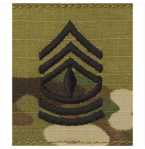 Vanguard ARMY GORTEX RANK: FIRST SERGEANT - OCP JACKET TAB