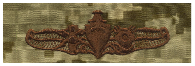 Vanguard NAVY EMBROIDERED BADGE: SPECIAL OPERATIONS OFFICER - DESERT DIGITAL