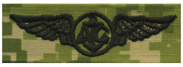 Vanguard NAVY EMBROIDERED BADGE: AIRCREW - WOODLAND DIGITAL