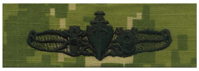 Vanguard NAVY EMBROIDERED BADGE: SPECIAL OPERATIONS OFFICER - WOODLAND DIGITAL