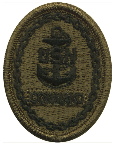 Vanguard NAVY EMBROIDERED BADGE: COMMAND E-7 - WOODLAND DIGITAL