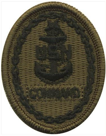 Vanguard NAVY EMBROIDERED BADGE: COMMAND E-8 - WOODLAND DIGITAL