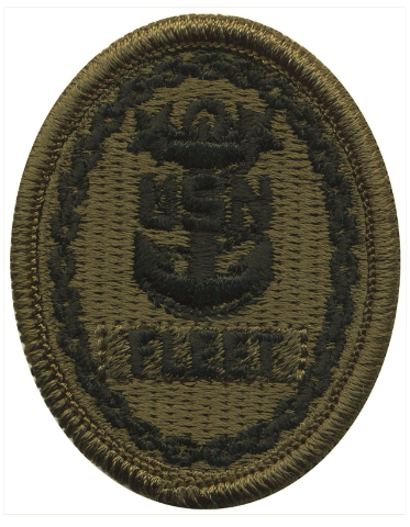 Vanguard NAVY EMBROIDERED BADGE: FLEET E-9 - WOODLAND DIGITAL