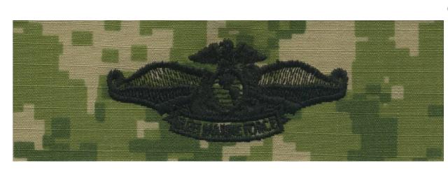 Vanguard Navy Fleet Marine Force Embroidered Badge on Woodland Digital