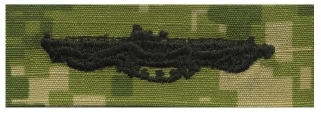 Vanguard NAVY EMBROIDERED BADGE: SUBMARINE COMBAT PATROL - WOODLAND DIGITAL