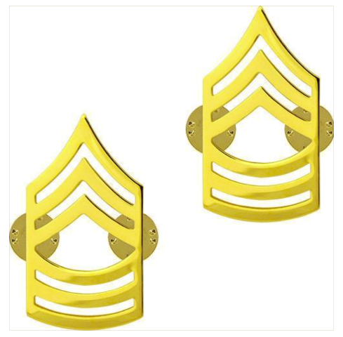 Vanguard ARMY CHEVRON: MASTER SERGEANT - 22K GOLD PLATED