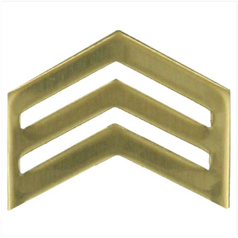 Vanguard ARMY ROTC CHEVRON: SERGEANT - BRASS