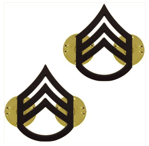 Vanguard ARMY CHEVRON: STAFF SERGEANT - BLACK METAL