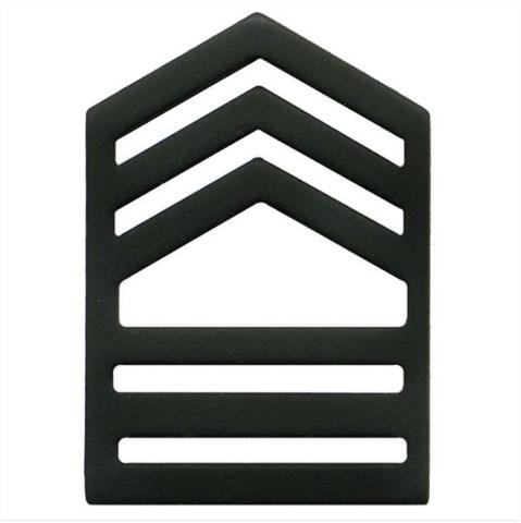 Vanguard ARMY ROTC CHEVRON: MASTER SERGEANT SENIOR DIVISION - BLACK METAL