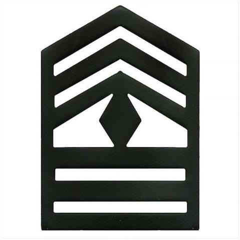 Vanguard ARMY ROTC CHEVRON: FIRST SERGEANT SENIOR DIVISION - BLACK METAL