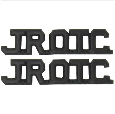 Vanguard ARMY JUNIOR ROTC COLLAR DEVICE - JROTC CUT OUT LETTERS - BLACK METAL