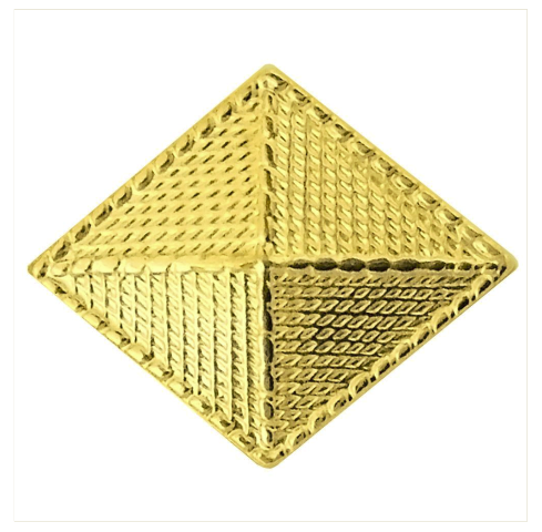 Vanguard ARMY OFFICER BRANCH OF SERVICE COLLAR DEVICE: FINANCE - 22K GOLD PLATED