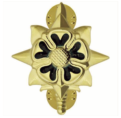 Vanguard ARMY OFFICER BRANCH OF SERVICE COLLAR DEVICE: MILITARY INTELLIGENCE